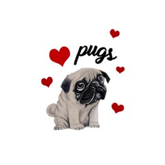 Love Pugs Shower Curtain 48  X 72  (small)  by Valentinaart
