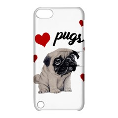 Love Pugs Apple Ipod Touch 5 Hardshell Case With Stand by Valentinaart