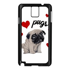 Love Pugs Samsung Galaxy Note 3 N9005 Case (black)