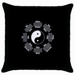 I Ching  Throw Pillow Case (black) by Valentinaart