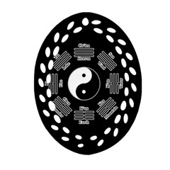 I Ching  Ornament (oval Filigree) by Valentinaart