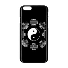 I Ching  Apple Iphone 6/6s Black Enamel Case by Valentinaart