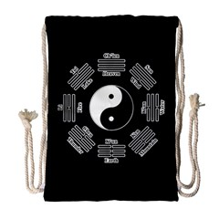 I Ching  Drawstring Bag (large) by Valentinaart