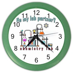 Chemistry Lab Color Wall Clocks by Valentinaart