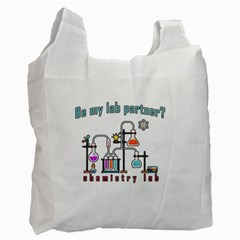 Chemistry Lab Recycle Bag (one Side) by Valentinaart