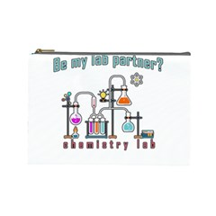 Chemistry Lab Cosmetic Bag (large)  by Valentinaart