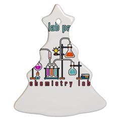 Chemistry Lab Christmas Tree Ornament (two Sides) by Valentinaart