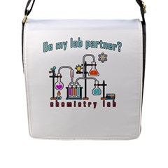 Chemistry Lab Flap Messenger Bag (l)  by Valentinaart