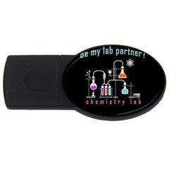 Chemistry Lab Usb Flash Drive Oval (2 Gb) by Valentinaart