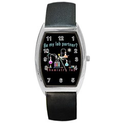 Chemistry Lab Barrel Style Metal Watch by Valentinaart