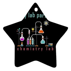 Chemistry Lab Star Ornament (two Sides) by Valentinaart