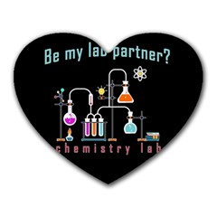 Chemistry Lab Heart Mousepads by Valentinaart