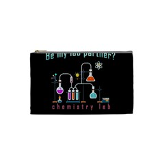 Chemistry Lab Cosmetic Bag (small)  by Valentinaart