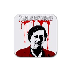 Pablo Escobar  Rubber Square Coaster (4 Pack)  by Valentinaart