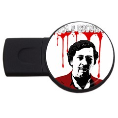 Pablo Escobar  Usb Flash Drive Round (2 Gb) by Valentinaart