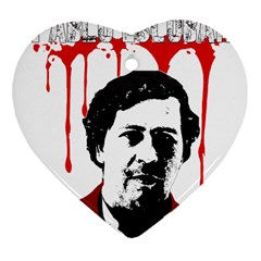 Pablo Escobar  Heart Ornament (two Sides) by Valentinaart
