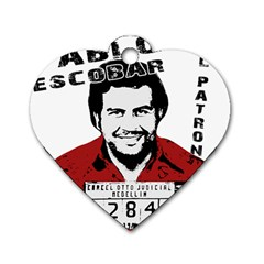 Pablo Escobar  Dog Tag Heart (one Side)