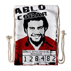 Pablo Escobar  Drawstring Bag (large) by Valentinaart