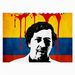 Pablo Escobar Large Glasses Cloth (2 Side) by Valentinaart