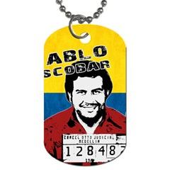 Pablo Escobar Dog Tag (two Sides) by Valentinaart