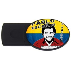 Pablo Escobar Usb Flash Drive Oval (2 Gb) by Valentinaart
