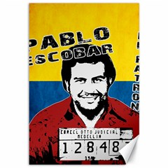Pablo Escobar Canvas 12  X 18   by Valentinaart