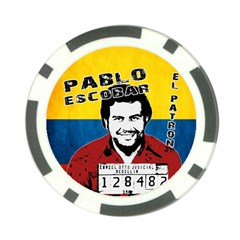 Pablo Escobar Poker Chip Card Guard by Valentinaart