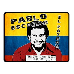 Pablo Escobar Double Sided Fleece Blanket (small)