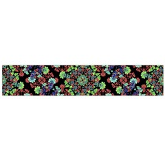 Colorful Floral Collage Pattern Flano Scarf (large) by dflcprintsclothing