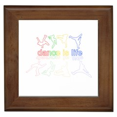 Dance Is Life Framed Tiles by Valentinaart