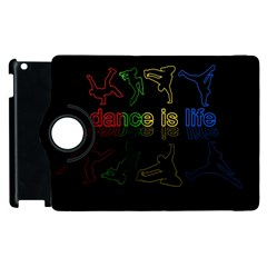 Dance Is Life Apple Ipad 3/4 Flip 360 Case by Valentinaart