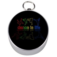 Dance Is Life Silver Compasses