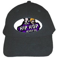 Real Hip Hop Never Die Black Cap by Valentinaart