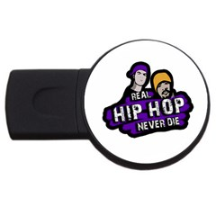 Real Hip Hop Never Die Usb Flash Drive Round (4 Gb) by Valentinaart