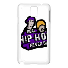 Real Hip Hop Never Die Samsung Galaxy Note 3 N9005 Case (white)