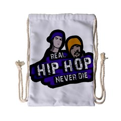 Real Hip Hop Never Die Drawstring Bag (small) by Valentinaart