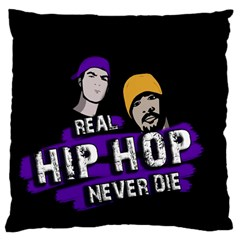 Real Hip Hop Never Die Standard Flano Cushion Case (one Side)