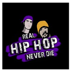 Real Hip Hop Never Die Large Satin Scarf (square) by Valentinaart