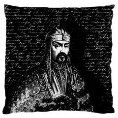 Attila The Hun Large Flano Cushion Case (one Side) by Valentinaart