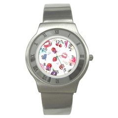 Hand Painted Summer Background  Stainless Steel Watch by TastefulDesigns