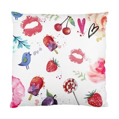 Hand Painted Summer Background  Standard Cushion Case (two Sides) by TastefulDesigns