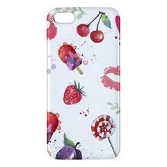 Hand Painted Summer Background  Apple Iphone 5 Premium Hardshell Case by TastefulDesigns
