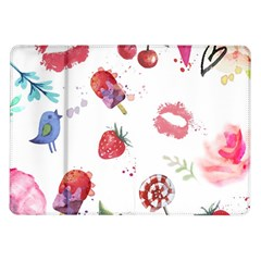 Hand Painted Summer Background  Samsung Galaxy Tab 10 1  P7500 Flip Case by TastefulDesigns