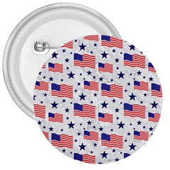 Flag Of The Usa Pattern 3  Buttons