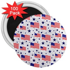 Flag Of The Usa Pattern 3  Magnets (100 Pack) by EDDArt