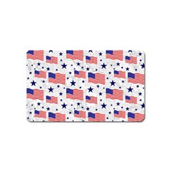 Flag Of The Usa Pattern Magnet (name Card) by EDDArt