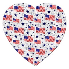 Flag Of The Usa Pattern Jigsaw Puzzle (heart) by EDDArt