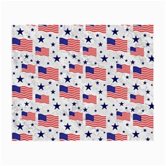 Flag Of The Usa Pattern Small Glasses Cloth by EDDArt