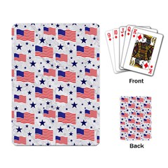 Flag Of The Usa Pattern Playing Card by EDDArt