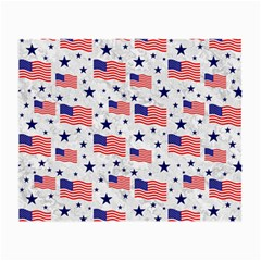 Flag Of The Usa Pattern Small Glasses Cloth (2 Side) by EDDArt